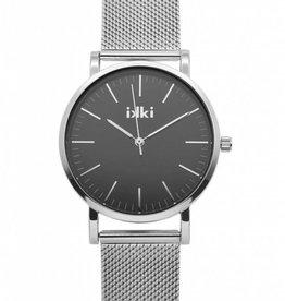 Ikki horloge Janet zilver/zwart