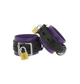 Strict Leather Fesseln aus Leder in Violett und Schwarz
