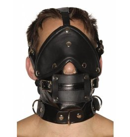 Strict Leather Premium-Maulkorb aus Leder mit Augenbinde und Knebel