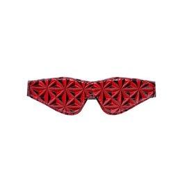 Crimson Tied Augenbinde mit Diamantmuster in Schwarz/Rot