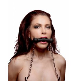 Master Series EQUINE - Bit Gag plus Nipple Clamps