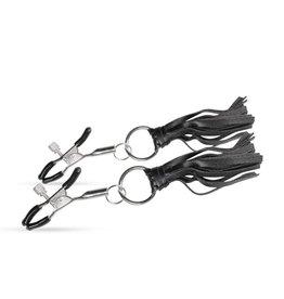 Easytoys Fetish Collection Verstellbare Nippelklemmen mit Quasten