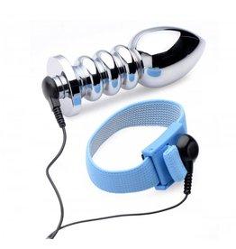 Zeus Electrosex (E-Stim) Vivid Uni-Polar E-Stim Penis- und Hodengurt und Analplug