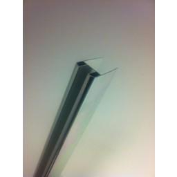Wiesbaden Chroom glasprofiel tbv muurprofiel glasdikte 1cm lengte 200 cm