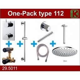 Wiesbaden One-Pack inbouwthermostaatset type 112 (30cm)
