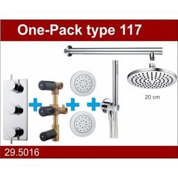 Wiesbaden One-Pack inbouwthermostaatset type  117