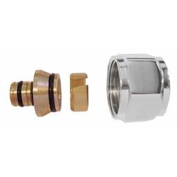 Riko Riko luxe adapter chroom 3/4-18x2 voor luxe onderblokken