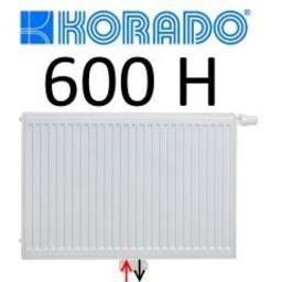 Korado Korado paneelradiator T33 H600, diverse breedte, midden aansl.