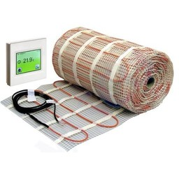 Comfort Elektrische vloerverwarmingsmat 4m 300Watt 2,0m2 + Touch thermostaat