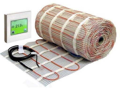 Comfort Elektrische vloerverwarmingsmat 6m 450Watt 3,0m2 + Touch thermostaat