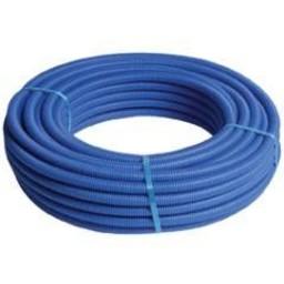 Henco alupex buis met mantel blauw 50m 26x3