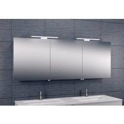 Wiesbaden Luxe spiegelkast +Led verlichting 160x60x14cm