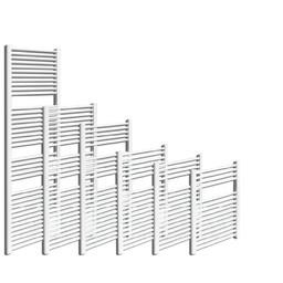 Sanica handdoekradiator, wit, recht, B400, diverse hoogtes