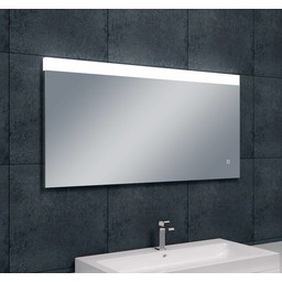 Wiesbaden Single dimbare LED condensvrije spiegel 1200x600