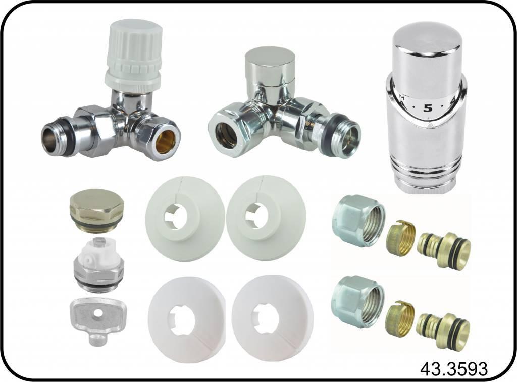 Sanica handdoekradiator, wit, recht, B400, diverse hoogtes, inclusief bevestigingsset,