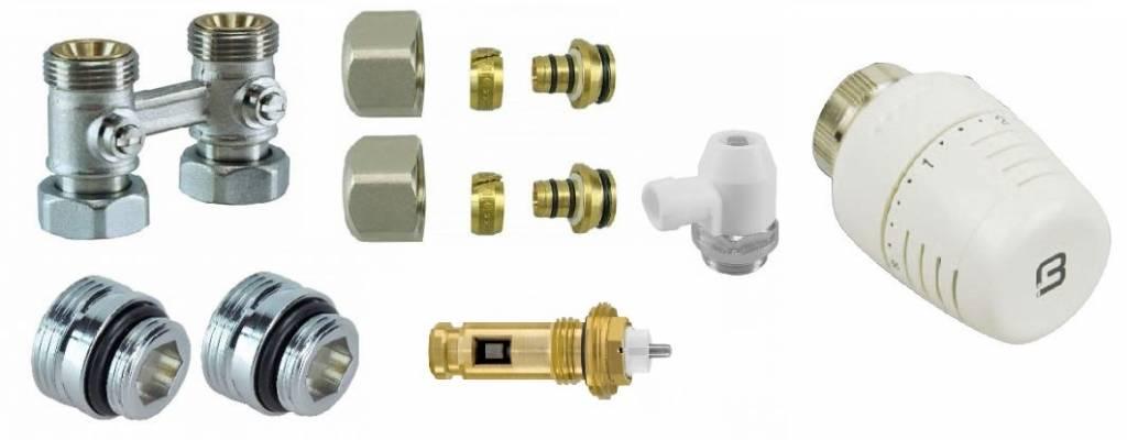 Aansluitset recht 16x2 voor Quinn Compla Integrale paneelradiatoren