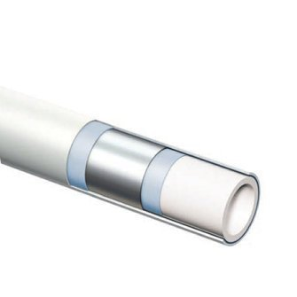 Henco alupex buis 26x3 met isolatie rood 10mm, rol 25 meter