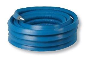 Henco alupex buis26x3 met isolatie blauw 10mm, rol 25 meter