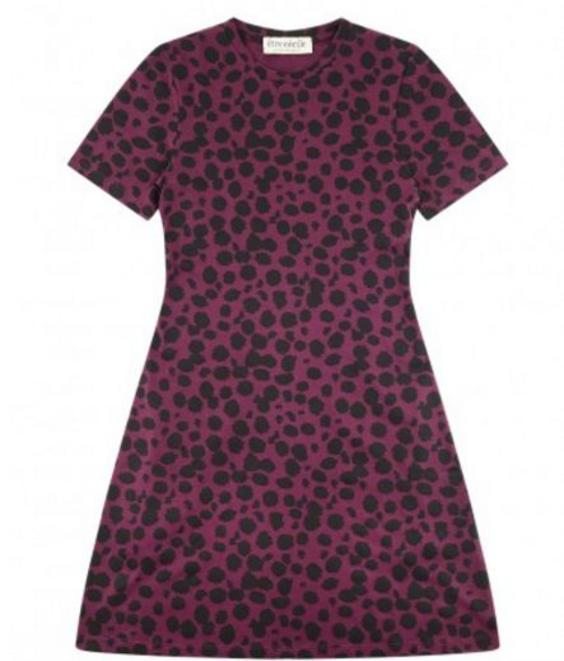 Etre Cecile Etre Cecile Petite Cheetah Mini Dress Mulberry