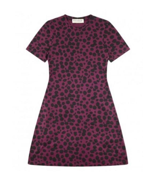 Etre Cecile Etre Cecile Petite Cheetah Mini Dress Mulberry