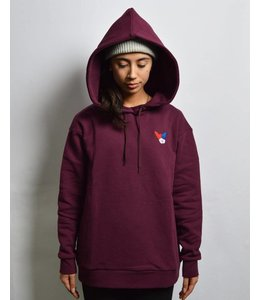 Etre Cecile Etre Cecile Oversized Dog Patch Hoodie Mulberry