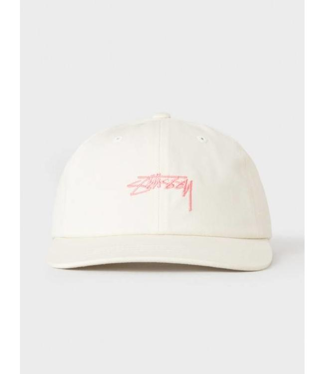 Stussy Stussy Smooth Stock Low Cap White/Pink