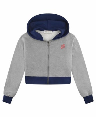 Etre Cecile Etre Cecile Oversized Crop Zip Up Hoodie Medium Grey
