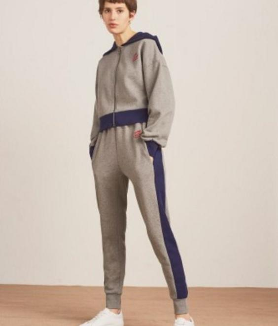 Etre Cecile Etre Cecile Oversized Crop Zip Up Hoodie Medium Grey