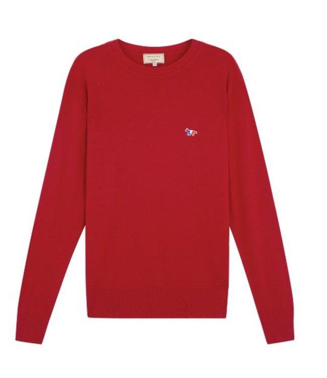 Maison Kitsune Maison Kitsune Virgin Wool R Neck Pullover Red