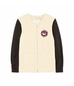 Maison Kitsune Maison Kitsune Teddy Baseball Ecru