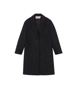 Maison Kitsune Kitsune Thelma Woolen Coat Anthracite
