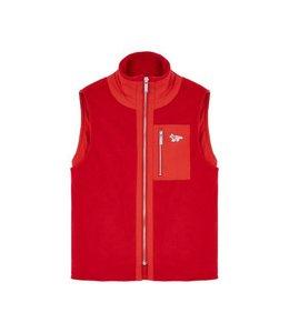 Maison Kitsune Kitsune Fleece Waistcoat Red