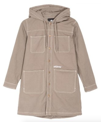 Stussy Stussy Fazer Canvas Hooded Jacket Steel