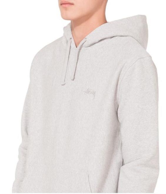 Stussy Stussy Stock Logo Hood Grey