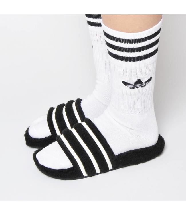 Adidas Adidas Solid Crew Sock White Black 3pack