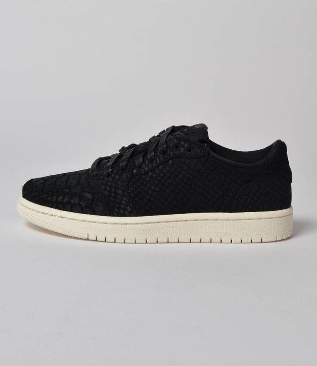 Nike Jordan 1 W Low 'No Swoosh' Black