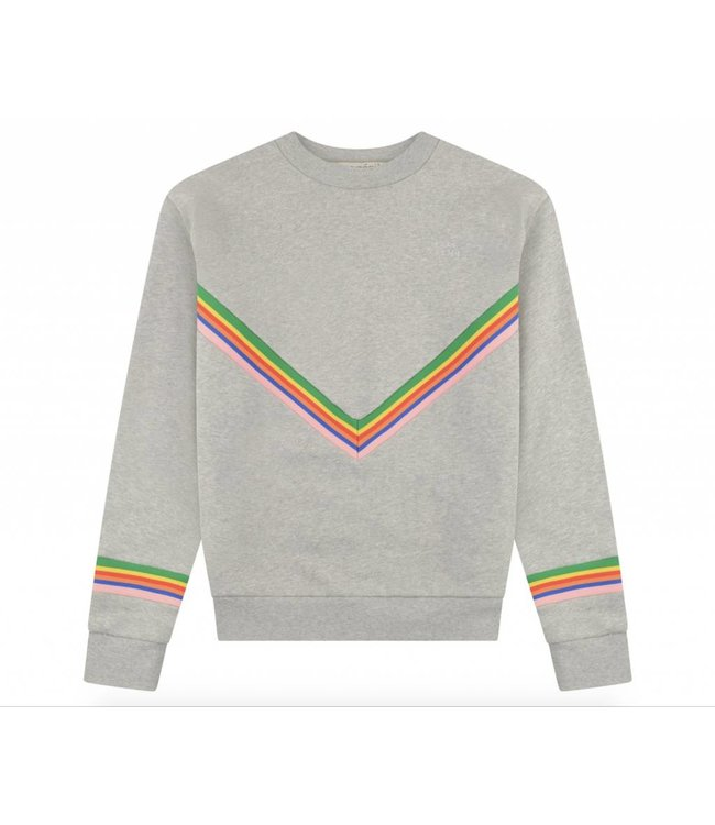 Etre Cecile Etre Cecile Chevron Boyfriend Sweatshirt Grey Multi