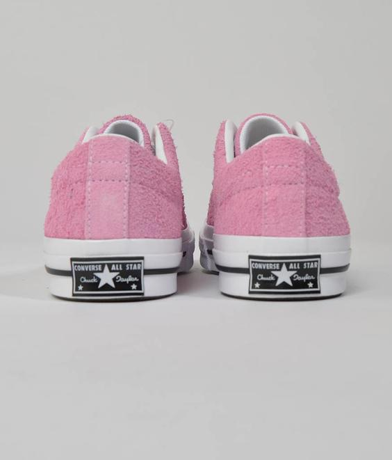 Converse Converse One Star Ox Pink White Suede