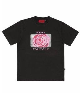 Wasted Wasted Basic T-shirt Real Fantasy Black