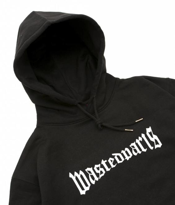 Wasted Wasted Hoodie Reflective Black