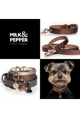 Milk & Pepper Hundehalsband Bronze Metallic Milk & Pepper