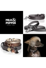 Milk & Pepper Hundehalsband Titan Metallic Milk & Pepper