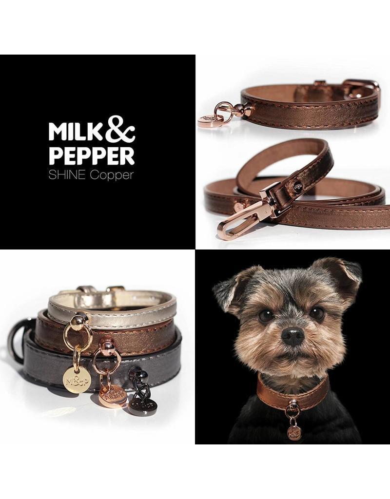 Milk & Pepper Dog leash bronze metallic Milk & Pepper
