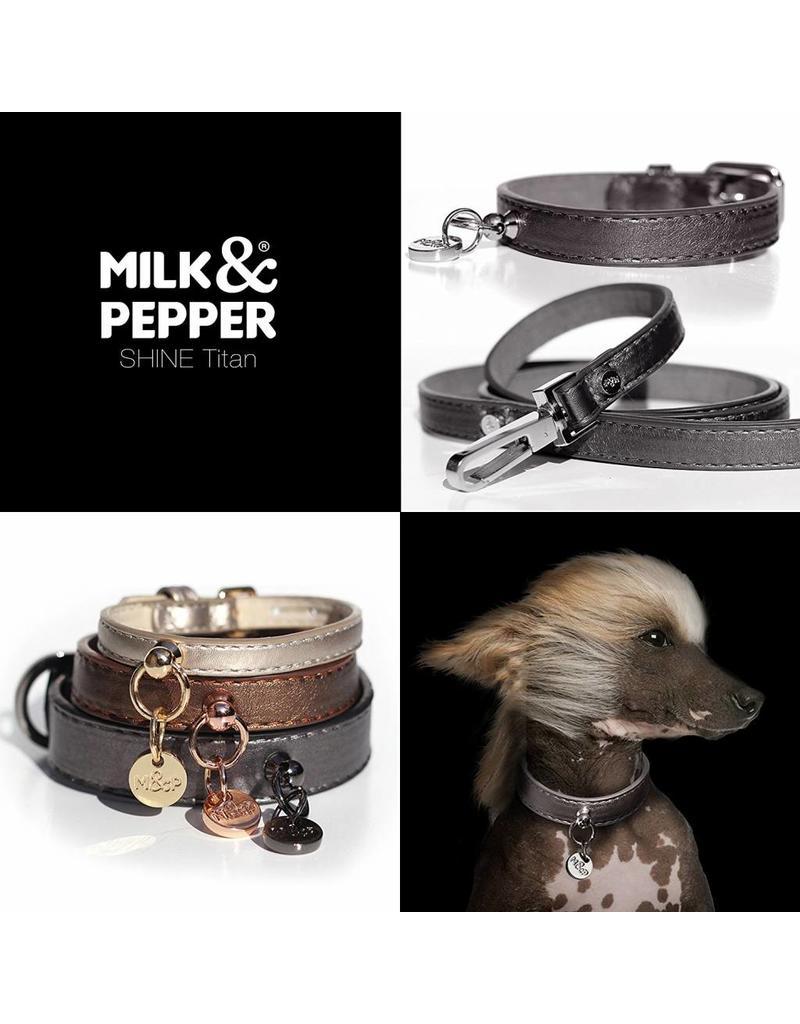Milk & Pepper Dog leash titan black metallic Milk & Pepper