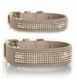 Milk & Pepper Hundehalsband Beige/Gold Strass Milk & Pepper