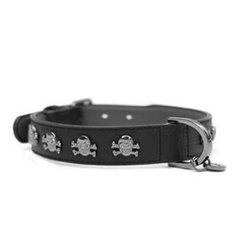 Milk & Pepper Leather collar volt black skulls Milk & Pepper