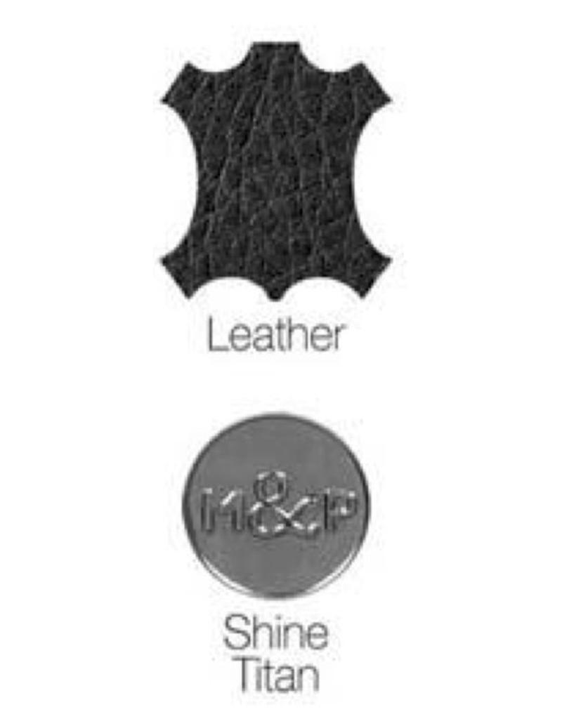 Milk & Pepper Leather collar Volt Black skulls Milk & Pepper