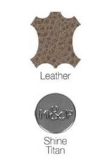 Milk & Pepper Leather collar Zak Tan with rivets Milk & Pepper