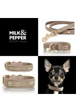 Milk & Pepper Leather dog leash beige Milk & Pepper