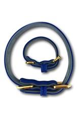 SIMPLY SMALL Lederhalsband - Royal Blau - SIMPLY SMALL